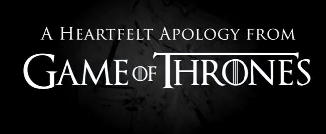 I produttori di Game of Thrones si scusano - VIDEO