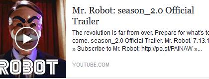 Il trailer ufficiale della seconda stagione di Mr. Robot