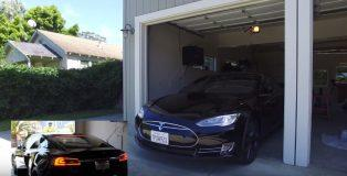 Tesla-ModelS-garage-Alexa-Echo-video