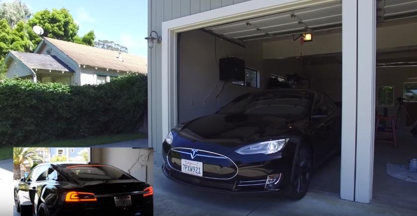 Tesla-ModelS-garage-Alexa-Echo-video