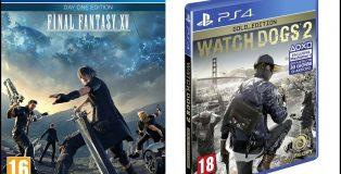 Final Fantasy XV e Watch Dogs 2 in edizione limitata su Amazon