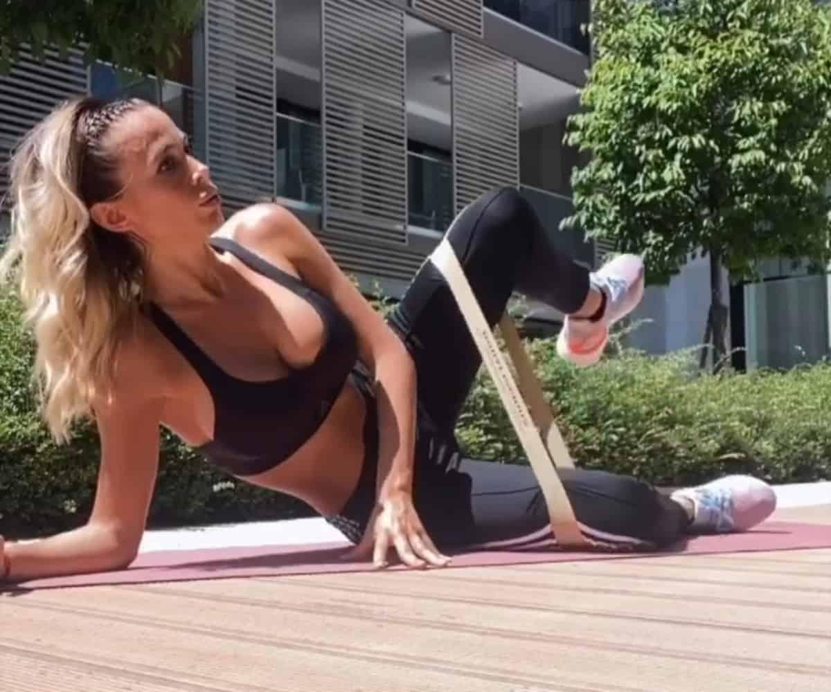 Diletta Leotta allenamento